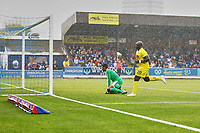 Disappointment for Adebayo Akinfenwa of Wycombe Wanderers as his goal is ruled offside in the second half during AFC Wimbledon vs Wycombe Wanderers, Sky Bet EFL League 1 Football at the Cherry Red Records Stadium on 31st August 2019
