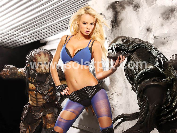 **ALL ROUND EXCLUSIVE PICTURES FROM SOLARPIX.COM**.**WORLD SYNDICATION RIGHTS**.Pictures show the SEGA Aliens vs Predator photo shoot featuring Ami Grove and Rhian Sugden. Pictures were part of a shoot for the new SEGA Aliens vs Predator game, which was released on Friday 19th February 2010. London, UK. 19 February 2010..This pic: Rhian Sugden..JOB REF: 10725 LDN     DATE: 19_02_2010.**MUST CREDIT SOLARPIX.COM OR DOUBLE FEE WILL BE CHARGED**.**MUST NOTIFY SOLARPIX OF ONLINE USAGE**.**CALL US ON: +34 952 811 768 or LOW RATE FROM UK 0844 617 7637**