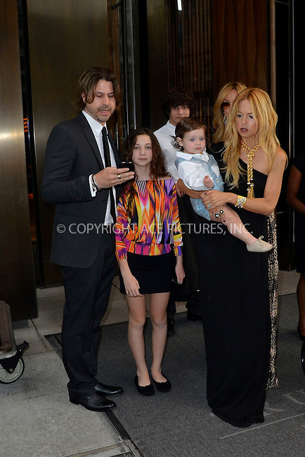WWW.ACEPIXS.COM . . . . . .June 8, 2012...New York City....Rachel Zoe with her husband Rodger Berman and their son Skyler  on June 8, 2012 in New York City. ....Please byline: CURTIS MEANS - WWW.ACEPIXS.COM.. . . . . . ..Ace Pictures, Inc: ..tel: (212) 243 8787 or (646) 769 0430..e-mail: info@acepixs.com..web: http://www.acepixs.com .