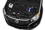 Car Stock2014 Ssangyong Korando Sapphire 5 Door SUV Engine high angle detail view