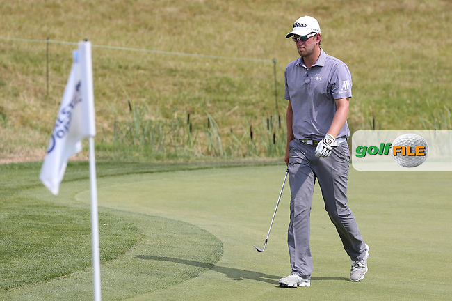 Bernd Wiesberger (AUT) has to chip from the green to the 16th, but duffs it into the rough during Round Three of the 2015 Alstom Open de France, played at Le Golf National, Saint-Quentin-En-Yvelines, Paris, France. /04/07/2015/. Picture: Golffile | David Lloyd<br /> <br /> All photos usage must carry mandatory copyright credit (&copy; Golffile | David Lloyd)