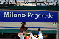 milano, quartiere rogoredo - santa giulia, periferia sud-est. la stazione ferroviaria --- milan, rogoredo - santa giulia district, south-east periphery. the railway station