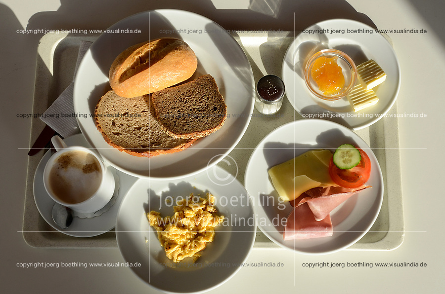 GERMANY, Dessau, typical old-fashioned german breakfast