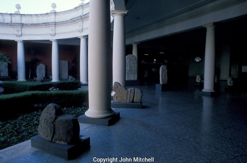 Mayan sculptures in the Museo Nacional de Arqueologia y Etnologia in Guatemala City, Guatemala.
