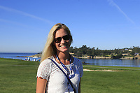 Sofia Lundstedt follows husband Rafa Cabrera-Bello at Pebble Beach course during Friday's Round 2 of the 2018 AT&amp;T Pebble Beach Pro-Am, held over 3 courses Pebble Beach, Spyglass Hill and Monterey, California, USA. 9th February 2018.<br /> Picture: Eoin Clarke | Golffile<br /> <br /> <br /> All photos usage must carry mandatory copyright credit (&copy; Golffile | Eoin Clarke)