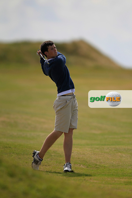 Ryan McKinstry (Cairndhu) on the 12th fairway during the South of Ireland Amateur Open Championship 4th Round at Lahinch Golf Club  29th July 2013 <br /> Picture:  Thos Caffrey / www.golffile.ie