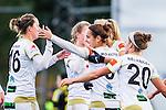 Solna 2015-10-11 Fotboll Damallsvenskan AIK - FC Roseng&aring;rd :  <br /> Roseng&aring;rds Natasa Andonova firar sitt 0-2 m&aring;l med Lina Nilsson , Josee Belanger och lagkamrater under matchen mellan AIK och FC Roseng&aring;rd <br /> (Foto: Kenta J&ouml;nsson) Nyckelord:  Damallsvenskan Allsvenskan Dam Damer Damfotboll Skytteholm Skytteholms IP AIK Gnaget  FC Roseng&aring;rd jubel gl&auml;dje lycka glad happy