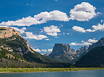 Bridger-Teton National Forest, Wyoming:<br /> Flat Top Mountain, Wind River Range at Green River Lakes