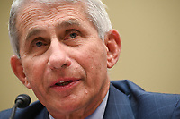 Anthony Fauci, director of the National Institute of Allergy and Infectious Diseases, speaks during a House Select Subcommittee on the Coronavirus Crisis hearing in Washington, D.C., U.S., on Friday, July 31, 2020. Trump administration officials are set to defend the federal government's response to the coronavirus crisis at the hearing hosted by a House panel calling for a national plan to contain the virus. <br /> Credit: Erin Scott / Pool via CNP /MediaPunch