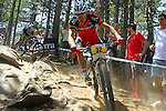 27.07.2013 La Massana, Andorra. UCI Mountain Bike World Cup. Picture show Ralph Naef (SUI) in action during Cross-Country Final at Vallnord