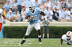 06 October 2007: North Carolina's Hakeem Nicks. The University of North Carolina Tar Heels defeated the University of Miami Hurricanes 33-27 at Kenan Stadium in Chapel Hill, North Carolina in an Atlantic Coast Conference NCAA College Football Division I game.
