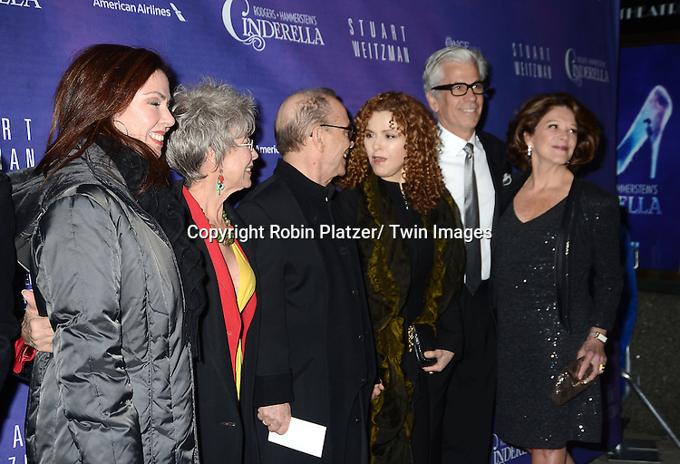 Fernanda and Rita Moreno, Joel Grey, Bernadette Peters, Linda Lavin and husband attends Rogers +  Hammerstein's Cinderella Broadway Opening night on March 3, 2013 at the Broadway Theatre in New York City.