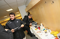 Pictured: Gorka Pintado (left) and Garry Monk (right) of Swansea City<br /> Re: Coca Cola Championship, Swansea City Football Club v Watford at the Liberty Stadium, Swansea, south Wales 09 November 2008.<br /> Picture by Dimitrios Legakis Photography (Athena Picture Agency), Swansea, 07815441513