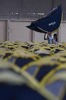 SAO PAULO, SP, 26.01.2014 - CAMPUS PARTY - Barracas sao vista montadas para os participantes do Campus Party Brasil, evento que chega a sua sétima edição, no Anhembi, na zona norte de São Paulo. Cerca de 160 mil visitantes são esperados pelos organizados, de 27 de janeiro a 2 de fevereiro.( Foto: Vanessa Carvalho / Brazil Photo Press).