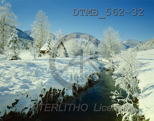 Gerhard, CHRISTMAS LANDSCAPE, photos, Bayern.Neuschneemorgen im Aurachtal(DTMB562-32,#XL#) Landschaften, Weihnachten, paisajes, Navidad