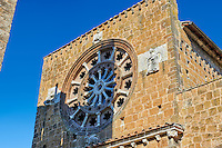 Rose Window, 1206, on the Facade of the Romanesque Basilica Church of Santa Maria Maggiore, Tuscania