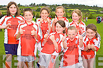 Pictured at the Knocknagoshel Sports Day at the GAA field on Saturday  Back Row, L-R, Britney O'Rouke, Roisin O'Keffe, Aisling Brosnan, Melissa Curtin. Front Row, L-R, Jamie O'Rourke, Shauna Greaney, Deirdre Guiny, Clar Be Fox (Brosna GAA U10's).