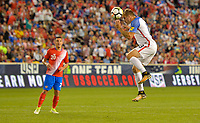 Harrison, N.J. - Friday September 01, 2017:   Jordan Morris during a 2017 FIFA World Cup Qualifying (WCQ) round match between the men's national teams of the United States (USA) and Costa Rica (CRC) at Red Bull Arena.