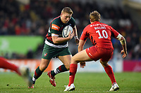 Jake Kerr of Leicester Tigers in possession. Gallagher Premiership match, between Leicester Tigers and Saracens on November 25, 2018 at Welford Road in Leicester, England. Photo by: Patrick Khachfe / JMP