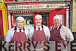 John McGlynn, Brendan O'Mahoney and Mark O'Brien O'Mahony's Butchers the Square, Listowel.