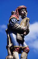 Pfeiferbrunnen auf der Spitalgasse in Bern, Schweiz, Unesco Weltkulturerbe