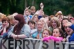 The crowd at Jedward on Friday in Denny Street.