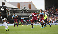 West Ham United's Manuel Lanzini scores his side's first goal  <br /> Photographer Rob Newell/CameraSport<br /> <br /> Football Pre-Season Friendly - Fulham v West Ham United - Saturday July 27th 2019 - Craven Cottage - London<br /> <br /> World Copyright © 2019 CameraSport. All rights reserved. 43 Linden Ave. Countesthorpe. Leicester. England. LE8 5PG - Tel: +44 (0) 116 277 4147 - admin@camerasport.com - www.camerasport.com