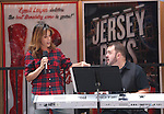 Leslie Kritzer and Joel Waggoner during the rehearsal for the 8th Annual Broadway Salutes Presentation at Shubert Alley on September 20, 2016 in New York City.