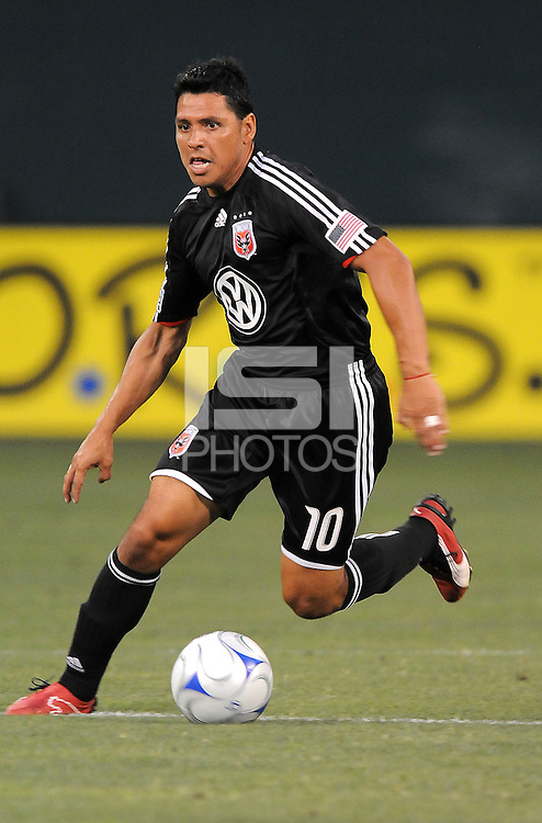 DC United midfielder Christian Gomez (10)  DC United defeated The Colorado Rapids 3-1, at RFK Stadium in Washington DC, Saturday July 18,2009.