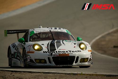 29 April - May 1, 2016, Monterey, California<br /> ,  22, Porsche, 991 GT3 R, GTD, Cooper MacNeil, Leh Keen<br /> &copy;2016, Michael L. Levitt<br /> LAT Photo USA