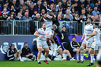 Semesa Rokoduguni of Bath Rugby claims the ball in the air. European Rugby Challenge Cup Quarter Final, between Bath Rugby and CA Brive on April 1, 2017 at the Recreation Ground in Bath, England. Photo by: Patrick Khachfe / Onside Images