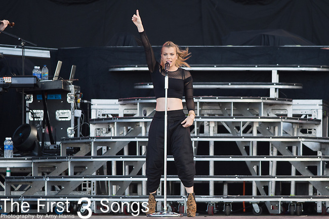 Kimberly Perry of The Band Perry performs onstage during The Tortuga Music Festival in Fort Lauderdale, Florida.