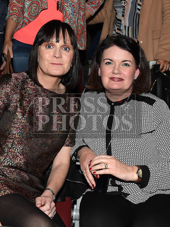 Tara Woods and Jane Kierans pictured at Naomh Fionnbarra strictly come dancing in the TLT. Photo:Colin Bell/pressphotos.ie