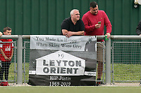 A flag tribute to Leyton Orient former manager Justin Edinburgh during Harlow Town vs Leyton Orient, Friendly Match Football at The Harlow Arena on 6th July 2019