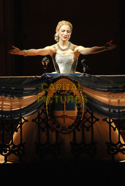 ELENA ROGERS.Elena Roger as Eva Peron, attending a stage photocall for Evita. Evita returns to London's West End this summer, 28 years after the original. Photocall held at the Adelphi Theatre, London, England,19th June 2006..half length costume stage musical.Ref: BEL.www.capitalpictures.com.sales@capitalpictures.com.©Tom Belcher/Capital Pictures.
