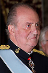 09.10.2012. King Juan Carlos I of Spain attend the reception of credentials of the new Ambassador of Kingdom of Netherland, Cornelis Van Rij, in the Royal Palace in Madrid, Spain. In the image King Juan Carlos (Alterphotos/Marta Gonzalez)