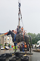 JUL 01 Stonewall Jackson Statue Removed In Richmond, Virginia