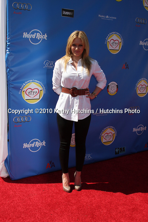 Hiliary Duff.arrives at  the George Lopez Golf Tournament .Lakeside Golf Club.Toluca Lake, CA.May 3, 2010.©2010 Kathy Hutchins / Hutchins Photo...