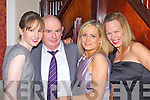 Hurling and football legend, Connie 'The King' Brouder pictured here with his daughters Sinead, Trish and Maria at the Mountcollins/Tournafulla GAA social last Saturday night in The Devon Inn, Templeglantine.