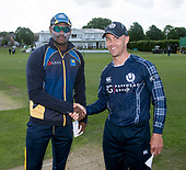 Cricket Scotland - Scotland V Sri Lanka at Kent County cricket ground at Benkenham, in the first of two matches on Sunday (today and Tuesday) - Angelo Matthews and Con de Lange - picture by Donald MacLeod - 21.05.2017 - 07702 319 738 - clanmacleod@btinternet.com - www.donald-macleod.com
