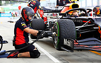 18th July 2020, Hungaroring, Budapest, Hungary; F1 Grand Prix of Hungary, qualifying sessions;  Mechanic of Aston Martin Red Bull Racing