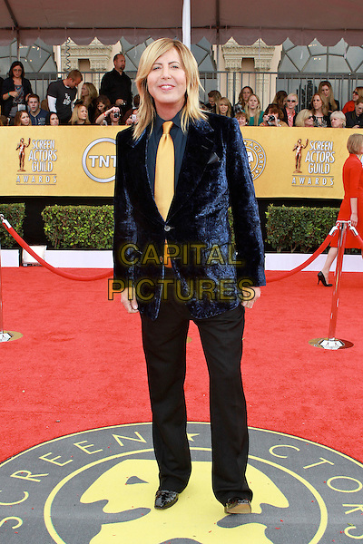 STEVEN COJOCARU.17th Annual Screen Actors Guild Awards held at The Shrine Auditorium, Los Angeles, California, USA..January 30th, 2011.SAG arrivals full length blue jacket black trousers yellow tie velvet  .CAP/ADM/KB.©Kevan Brooks/AdMedia/Capital Pictures.