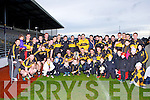 Dr Crokesteam celebrate with their fans after defeating Legion in the O'Donoghue cup final in Fitzgerald Stadium on Sunday