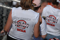 Apr 29, 2007; Talladega, AL, USA; Nascar Nextel Cup Series fans in the grandstands during the Aarons 499 at Talladega Superspeedway. Mandatory Credit: Mark J. Rebilas