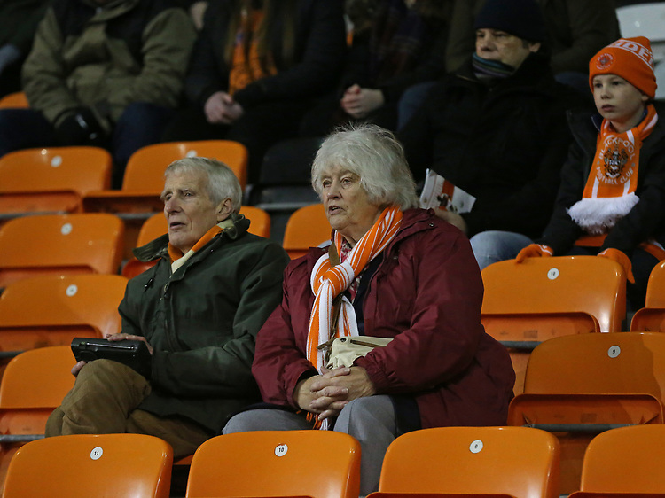 Blackpool fans watch <br /> <br /> Photographer Stephen White/CameraSport<br /> <br /> Emirates FA Cup Third Round - Blackpool v Arsenal - Saturday 5th January 2019 - Bloomfield Road - Blackpool<br />  <br /> World Copyright &copy; 2019 CameraSport. All rights reserved. 43 Linden Ave. Countesthorpe. Leicester. England. LE8 5PG - Tel: +44 (0) 116 277 4147 - admin@camerasport.com - www.camerasport.com<br /> <br /> Photographer Stephen White/CameraSport<br /> <br /> Emirates FA Cup Third Round - Blackpool v Arsenal - Saturday 5th January 2019 - Bloomfield Road - Blackpool<br />  <br /> World Copyright &copy; 2019 CameraSport. All rights reserved. 43 Linden Ave. Countesthorpe. Leicester. England. LE8 5PG - Tel: +44 (0) 116 277 4147 - admin@camerasport.com - www.camerasport.com