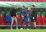 17.06.2020, Fussball 1. Bundesliga 2019/2020, 32. Spieltag, FC Augsburg - TSG 1899 Hoffenheim, in der WWK-Arena Augsburg. Trainer Heiko Herrlich (li., FC Augsburg) und Interimstrainer Matthias Kaltenbach (2vl., TSG 1899 Hoffenheim)<br /> <br /> Foto: Bernd Feil/MIS/Pool/PIX-Sportfotos<br /> <br /> Nur für journalistische Zwecke! Only for editorial use! <br /> <br /> Gemäß den Vorgaben der DFL Deutsche Fußball Liga ist es untersagt, in dem Stadion und/oder vom Spiel angefertigte Fotoaufnahmen in Form von Sequenzbildern und/oder videoähnlichen Fotostrecken zu verwerten bzw. verwerten zu lassen. DFL regulations prohibit any use of photographs as image sequences and/or quasi-video.    <br /> <br /> National and international NewsAgencies OUT.
