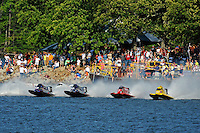 3-4 May 2008, Pickwick,TN USA.L to R: Todd Beckman, Tim Seebold, Shaun Torrente and Terry Rinker race away from the dock during the re-start of Sunday's final..©2008 F.Peirce Williams