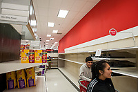 This section for toilet paper is bare during these days of the COVID-19 pandemic, at the Target store in Alexandria, Va., Monday, March16, 2020. Credit: Rod Lamkey / CNP/AdMedia