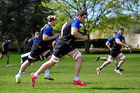 Charlie Ewels of Bath Rugby in action. Bath Rugby training session on May 3, 2016 at Farleigh House in Bath, England. Photo by: Patrick Khachfe / Onside Images