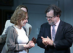 "Elaine May and Kenneth Lonergan during the Opening Night Curtain Call bows for ""The Waverly Gallery"" at the Golden Theatre on October 25, 2018 in New York City."